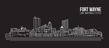 Cityscape Building Line Art Ve...