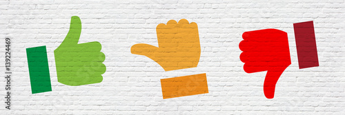 Thumb on a brick wall Canvas-taulu