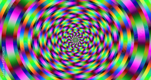 Photo  Rotation - Pulsation - Optical Illusion