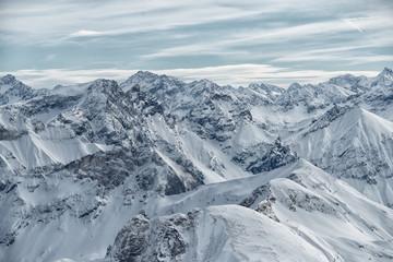 Fototapeta view from the Nebelhorn mountain, Bavarian Alps, Oberstdorf, Germany