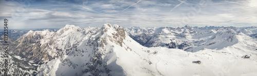 Fototapeta widok z góry Nebelhorn, Alpy Bawarskie