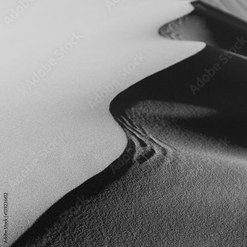Sand Dunes Morocco desert in monochrome