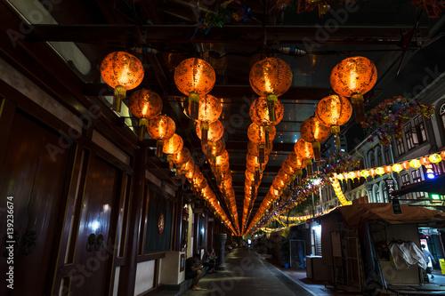 Photo  Chinese new year illumunation in chine town. Singapore