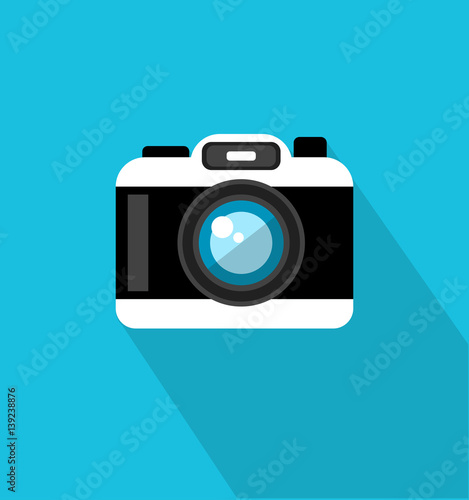 Fotografie, Obraz  Camera icon in trendy flat style