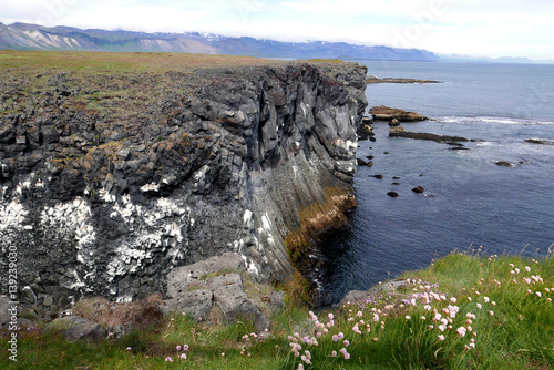 Photo Côte rocheuse islandaise.