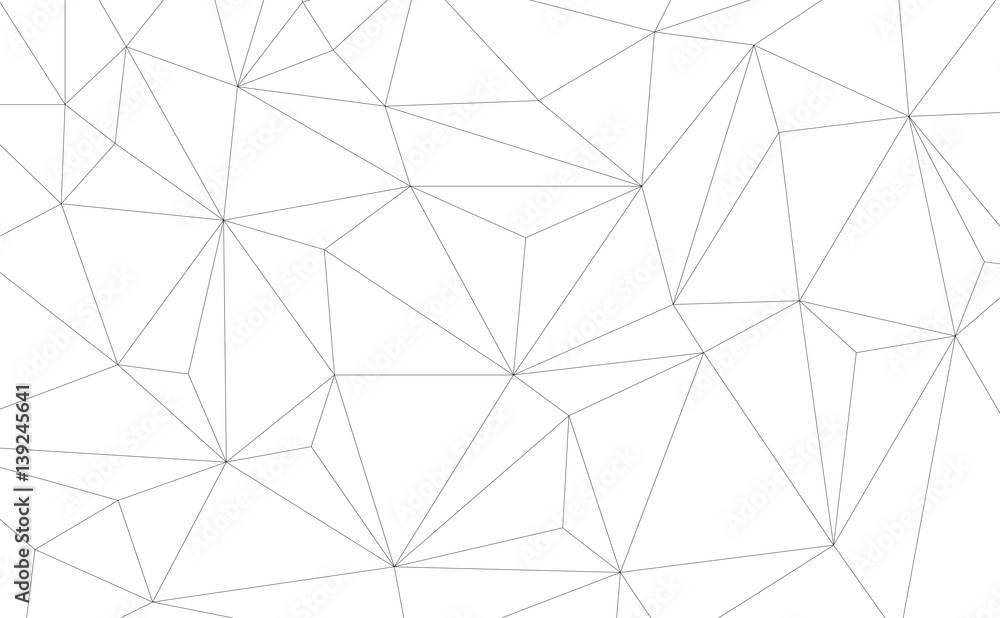Fototapety, obrazy: Vector Geometric background with Triangles. Black and white geometric background.