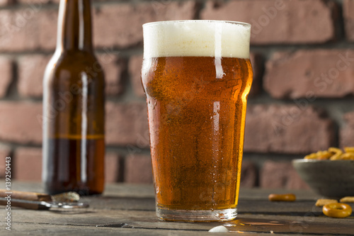 Photo Cold Refreshing American Lager Crafter Beer