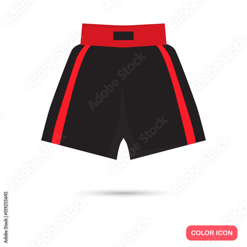 Obraz Boxing shorts color flat icon for web and mobile design - fototapety do salonu