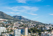 FUENGIROLA, SPAIN - FEBRUARY 7, 2017: A view to Fuengirola and its surroundings, hotels, resorts and mountains, Andalusia, Spain.