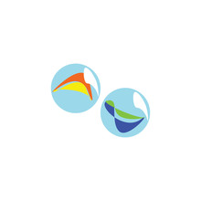 Vector Colorful Marbles Icon. Isolated On White