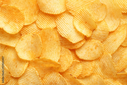 Fotomural  background corrugated golden chips with texture