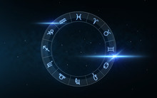 Signs Of Zodiac Over Night Sky...