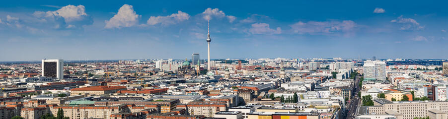 FototapetaBeautiful panorama of the skyline of Berlin