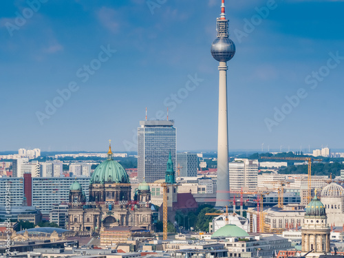 Beautiful panorama of the skyline of Berlin Poster