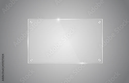 Photo Transparent glass board