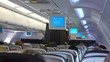 High quality video of airplane cabin in 4K