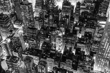 New York City At Night In Black And White