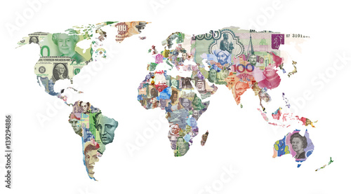 world currency map