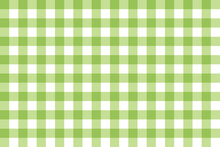 Green Pattern Plaid Texture Background, Vector Illustration