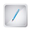 emblem blue ballpoint icon, vector illustraction design image