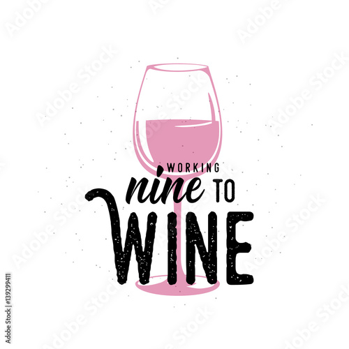 Vector illustration of drink related typographic quote Fotobehang