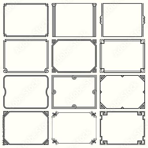 Photo  Decorative simple frames