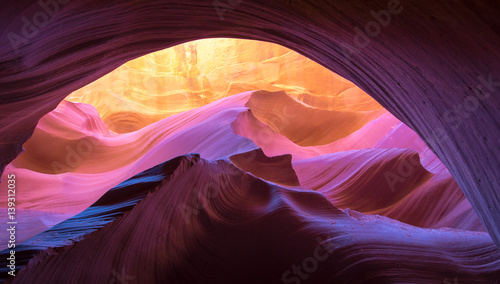 Photo Stands Canyon Antelope Canyon natural rock formation
