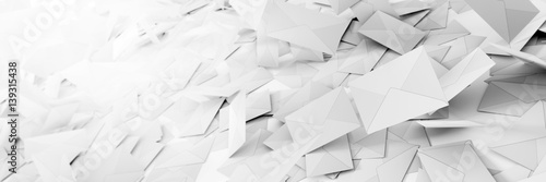 Infinite mail envelopes, 3d rendering background Fotobehang