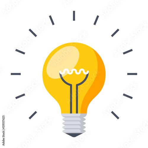 Light bulb, creative idea and innovation,vector illustration in flat style Canvas Print