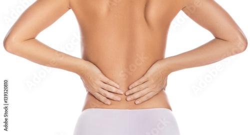 Plakat Kobieta z niższym bólem z powrotem