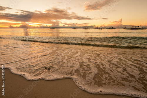 Staande foto Oceanië Tropical beach sunset at Philippines