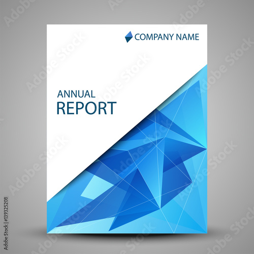 Annual report cover in abstract design