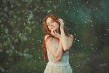 Portrait Of Redhead Girl Spring