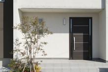 住宅 玄関アプローチ デザイン住宅 外構 エクステリア 植栽あり