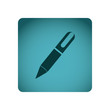 blue emblem ballpoint icon, vector illustraction design