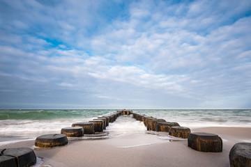 NaklejkaBuhnen an der Küste der Ostsee