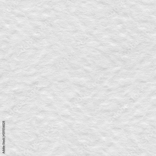 Abstract White Watercolor Plain Paper Texture Seamless Square Background Tile Ready