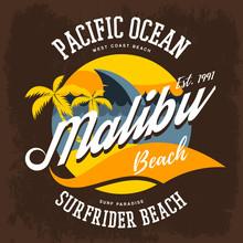 Surfrider Beach T-shirt Print Or Label