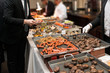 People Taking Food in Buffet Catering Dining Eating Party. Event Buffet Concept..