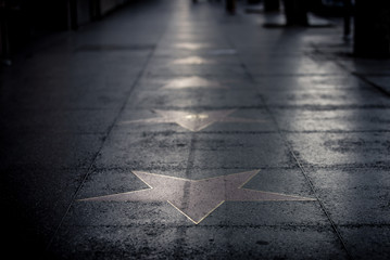 Fototapeta Stars on the street in Hollywood