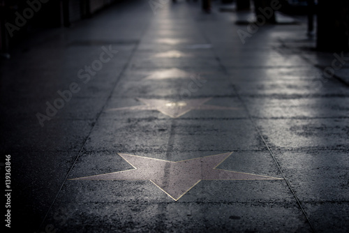 Stars on the street in Hollywood Canvas Print