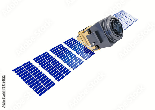 Cuadros en Lienzo artificial satellite space telescope concept 3D rendering isolated on white