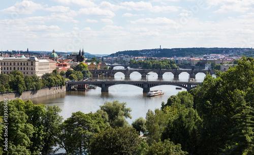 Fototapeta Prague Czech Republic and Vitava River obraz na płótnie