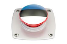 Estonia Flag Push Button, 3D Rendering