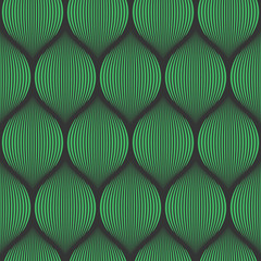 FototapetaSeamless black and green optical illusion woven pattern vector