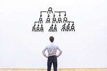 Delegation Concept, Ceo Delegating Tasks To Employees Of The Company