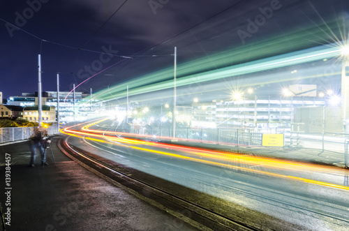 Fotografia  Nottingham Tram Long Exposure