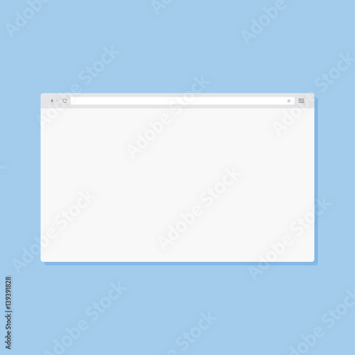 Vector Internet Browser Window Template For Your Design Flat