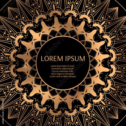Gold black background design vector. Luxury golden pattern ...