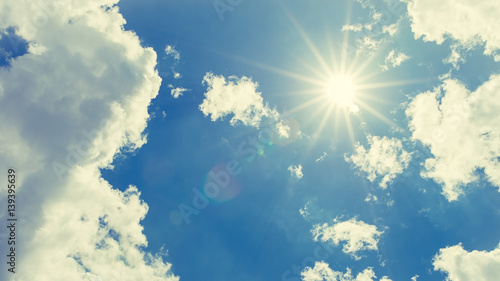 Fotografie, Obraz  Strong sun and sky